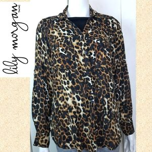 🔥 Leopard print buttoned shirt - pin up top